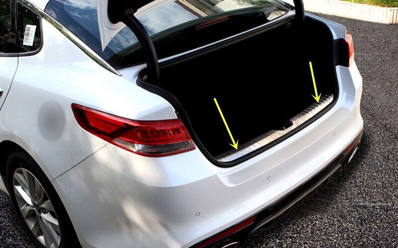 Auto Express Kia >> Steel Inside Rear Bumper Protector Trunk Step Plate Cover for Kia Optima K5 2016 2017-in ...