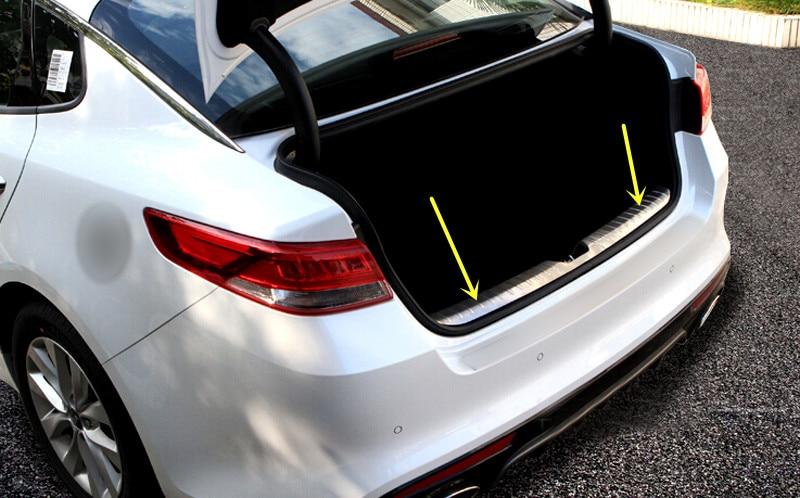 Steel Inside Rear Bumper Protector Trunk Step Plate Cover for Kia Optima K5 2016 2017 ...