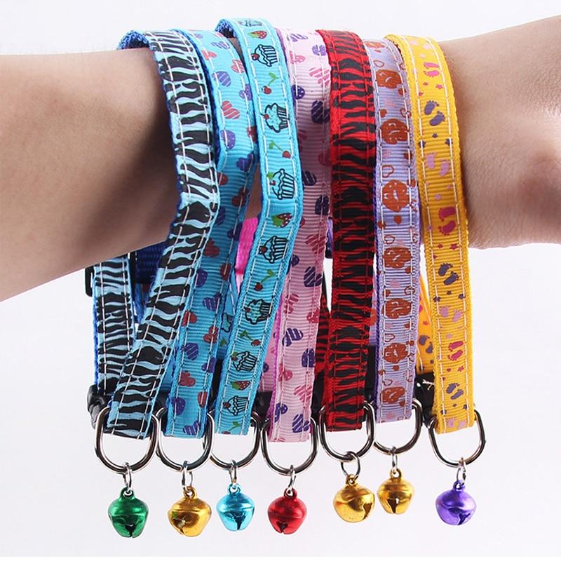 Patrón de diseño para mascotas perro gato collar con campanas 1 cm - Productos animales