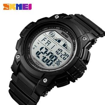 SKMEI Outdoor Sport Watch Men 5Bar Waterproof LED Display Watches Alarm Clock Chrono Digital reloj hombre 1372 - discount item  40% OFF Men's Watches