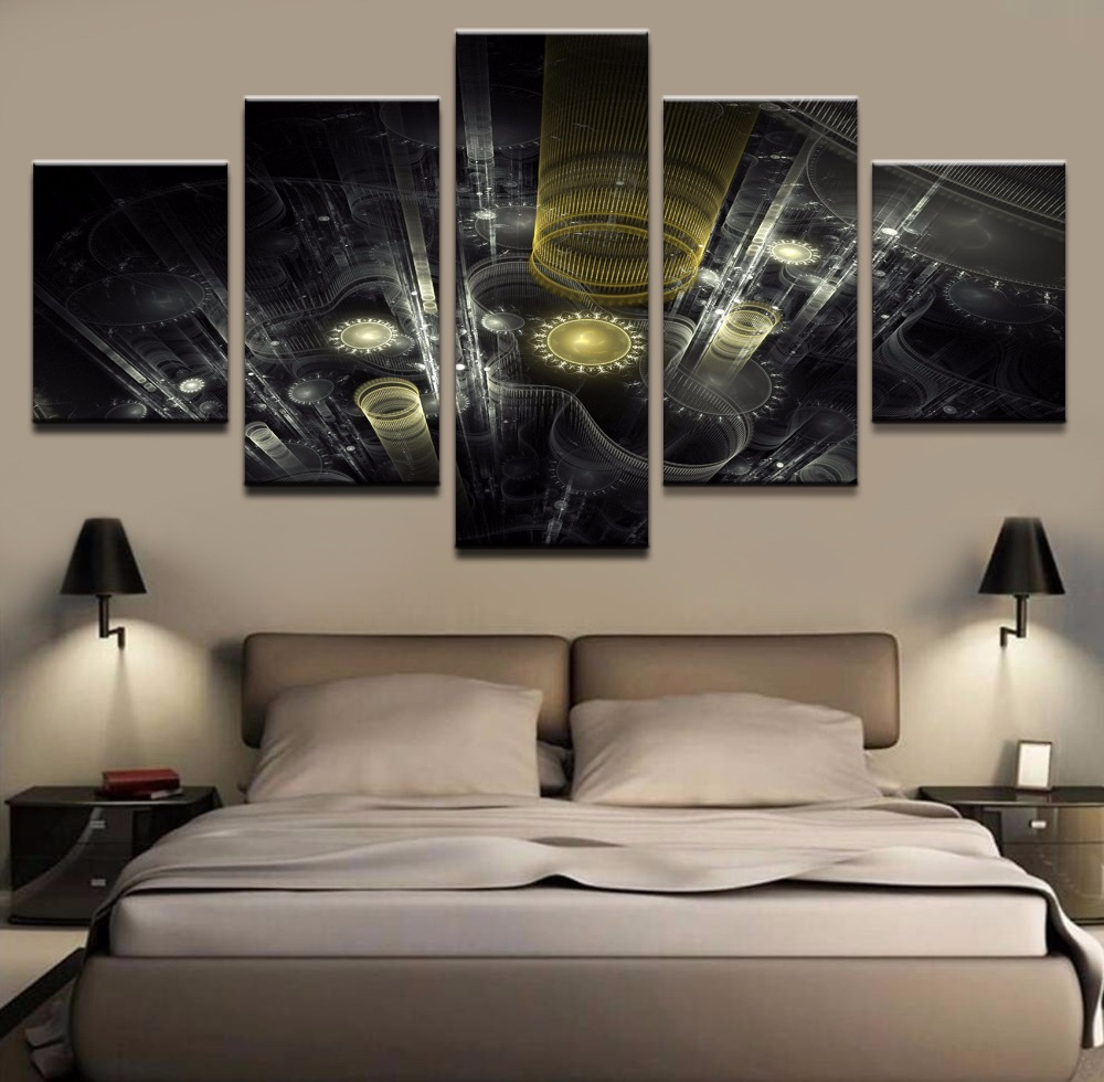 popular mechanical wall art buy cheap mechanical wall art lots paintings abstract canvas for living room wall art poster 5 piece abstract artistic mechanical decoration pictures
