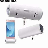 SOONHUA-minialtavoz portátil de 3,5mm, reproductor de Audio y música estéreo para teléfono móvil, columna de altavoz para teléfono inteligente, MP3, MP4 y portátil