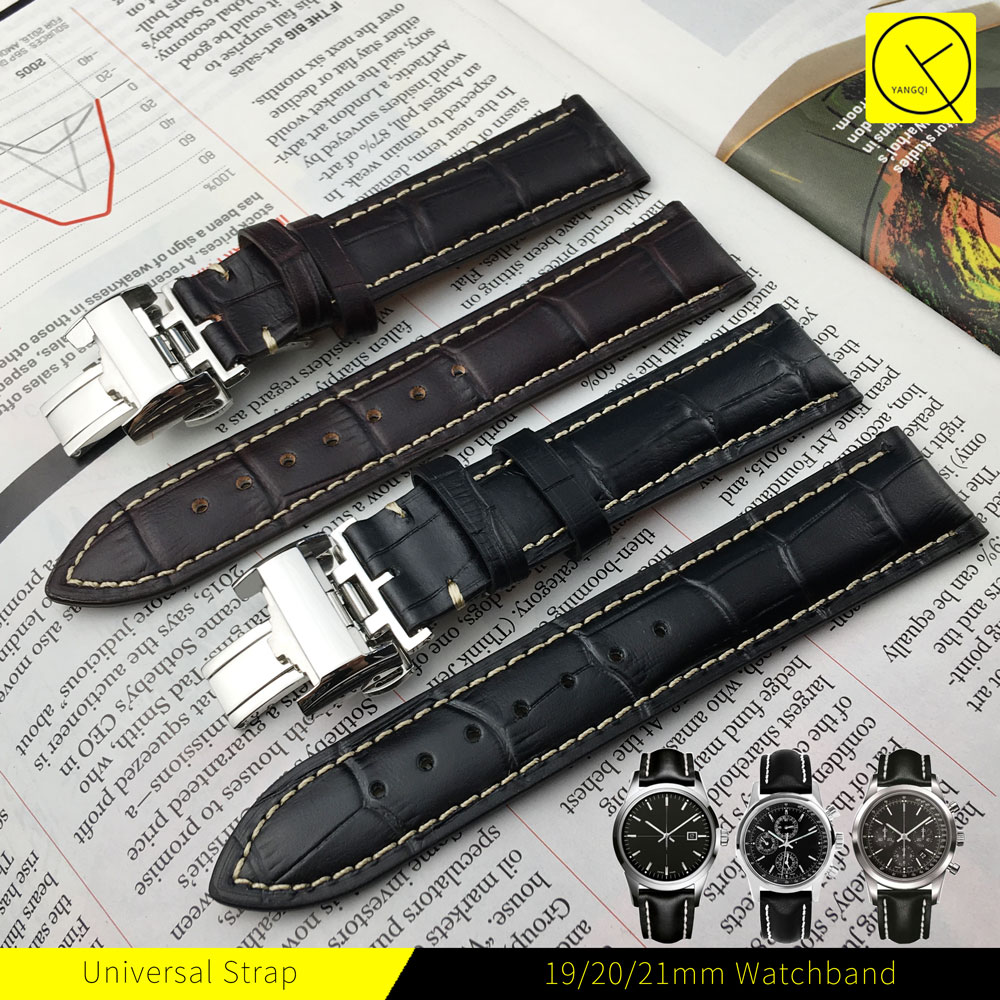 Calf Genuine Leather Yellow Watchband 13/18/19/20/21mm Watch Strap Band for Longines Watch L2 Master Collection L3/L4 +Tools genuine leather watchband for longines men leather watch strap for women metal buckle watch band belt retro watch clock band