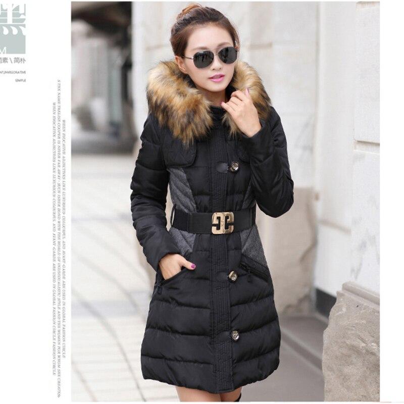 Down Femelle D'hiver Veste Section Couture Coréenne 8308 2018 Long Rembourré Manteau Hiver Nouvelle Grande Taille Coton qwzqa5d