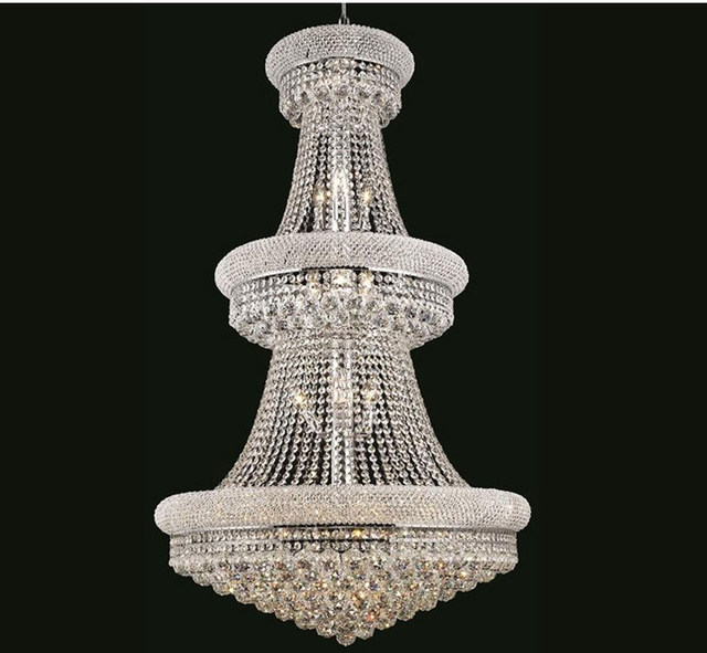 Phube Lighting French Empire Gold Large Crystal Chandelier Re Chrome Chandeliers Modern Light
