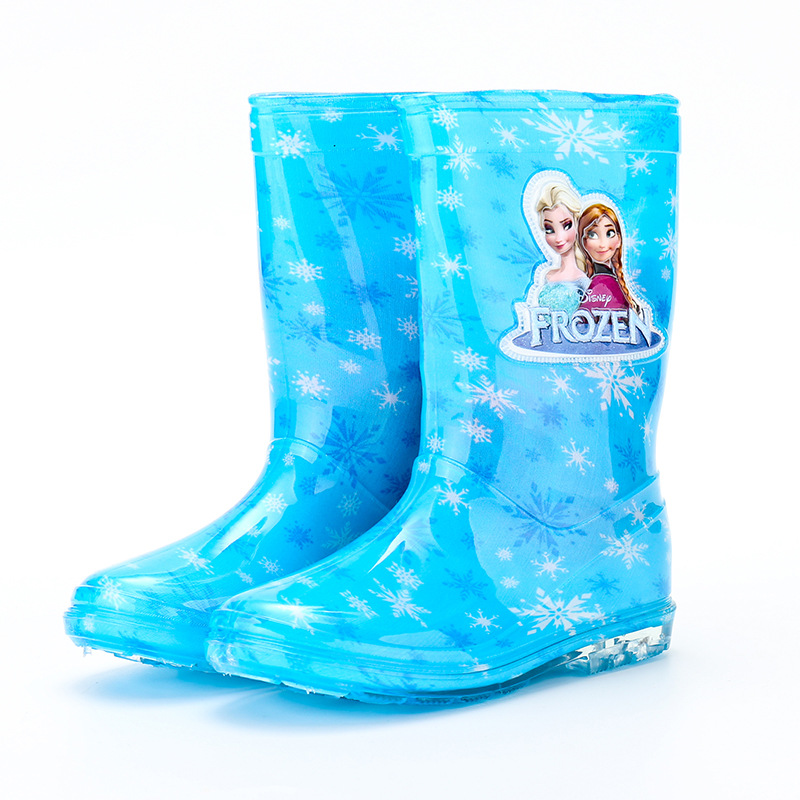 Image 4 - 2019 new Disney princess frozen children rain boots rubber shoes cartoon men and women PVC girls  water shoes size 26 31-in Boots from Mother & Kids