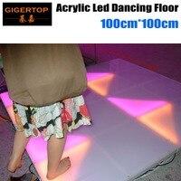 TIPTOP 1M*1M Led Dance Floor DMX 512 RGB Full Color Led Wedding Acrylic Plexiglass Dance Panel for Party Garden Hotel Decoration