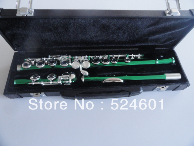 Specially Army Green Silvering Plated Key to Build C(C) 16 Holes Closed Wells Plus the E Key Obturator Flute Instrument very good gift silver to build 16 wells plus the e key obturator flute instrument