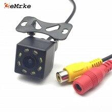 EEMRKE Universal 8 LED Da Câmera Do Carro HD CCD de Visão Noturna Auto Câmera de Visão Traseira 170 Wide Angle Estacionamento de Backup Veículo câmera