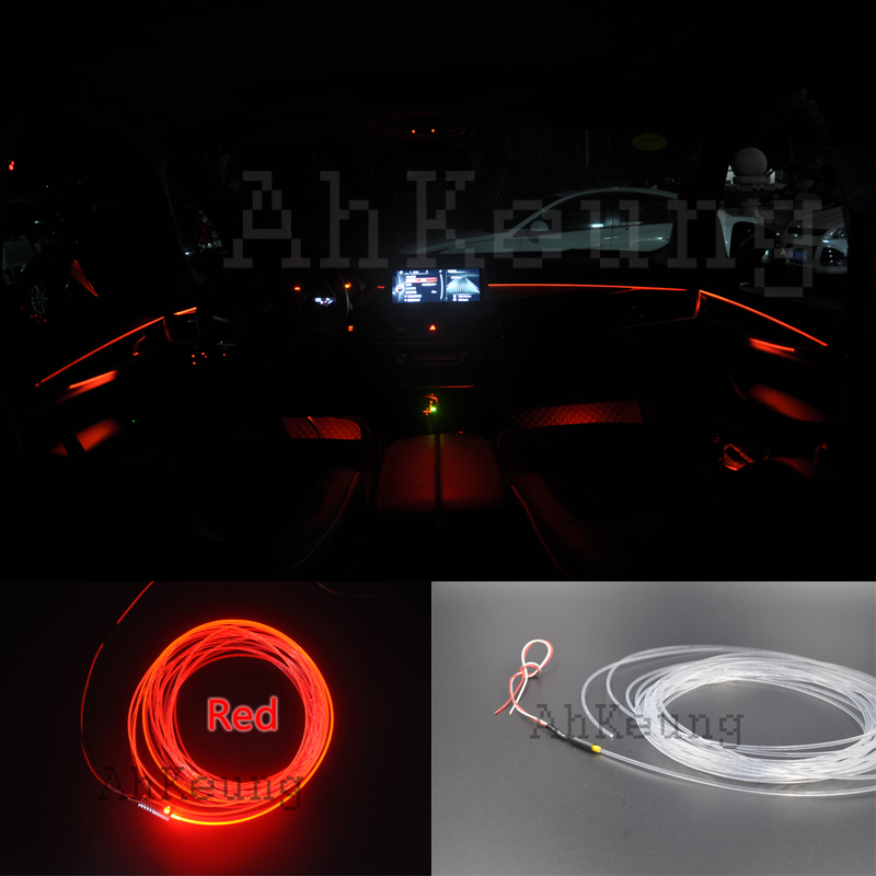 For TOYOTA Previa Interior Ambient Light Panel Illumination Car Styling Inside Tuning Cool Strip Refit Light Optic Fiber Band