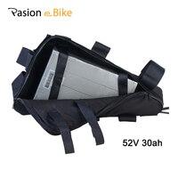 Batería triangular de 52 V 30ah para bicicleta eléctrica de 52 V batería de litio para bicicleta eléctrica rack 30ah 52 V
