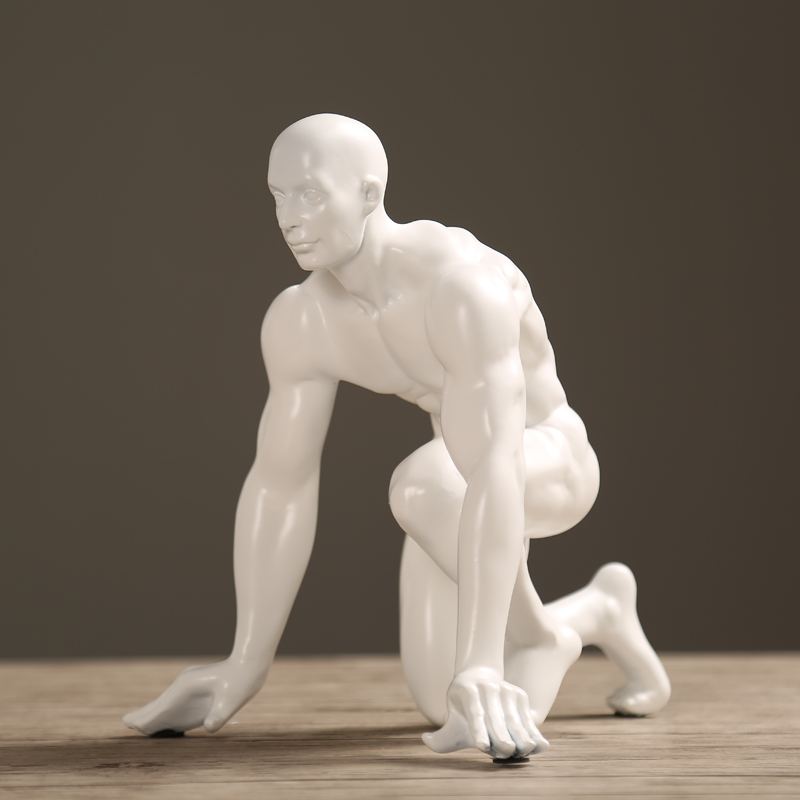 Modern athlete resin statue men sculptures Abstract Carving Man Statue Home decoration accessories