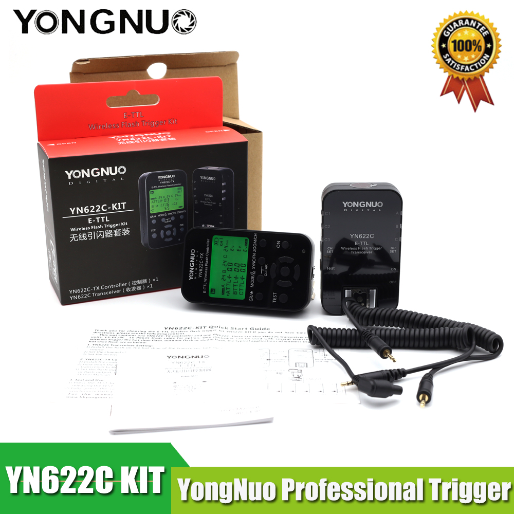 Yn Yongnuo YN622C YN 622C TX KIT Wireless TTL HSS Flash Trigger for Canon 1200D 1100D
