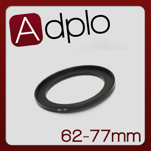 62-77mm Step-Up Metal Adapter Ring / 62mm Lens to 77mm Accessory