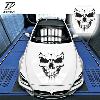 ZD Skull Head Car styling Engine Hood Door Window Stickers For BMW e46 e39 e36 Audi a4 b6 a3 a6 c5 Renault duster Lada granta image
