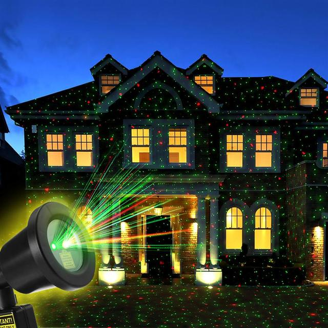 starlight laser light with remote control for outdoor holiday christmas decorations garden yard party with eu - Laser Lights Christmas Decorations