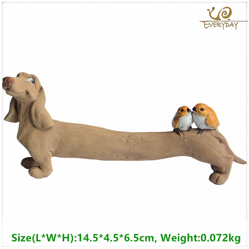 Everyday Collection Resin dachshund dog figurines Home Decoration Accessories &fairy garden miniature decoration& Car Decoration
