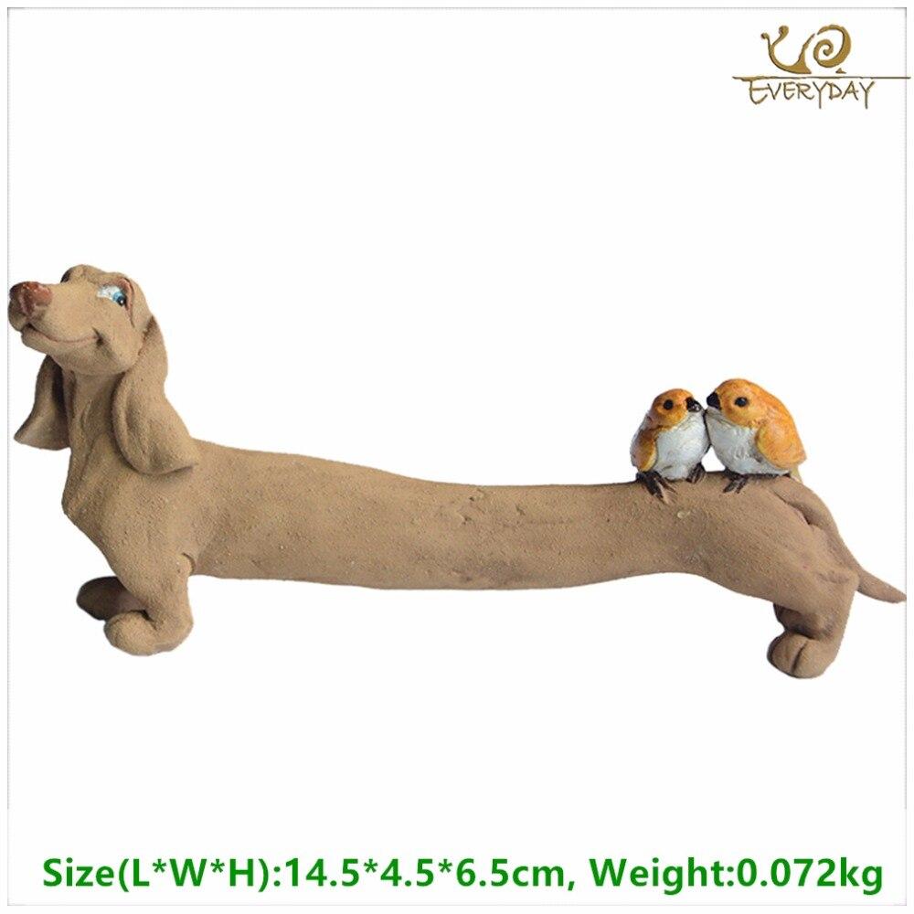 Everyday Collection Resin dachshund dog figurines Home Decoration Accessories &fairy garden miniature decoration& Car Decoration