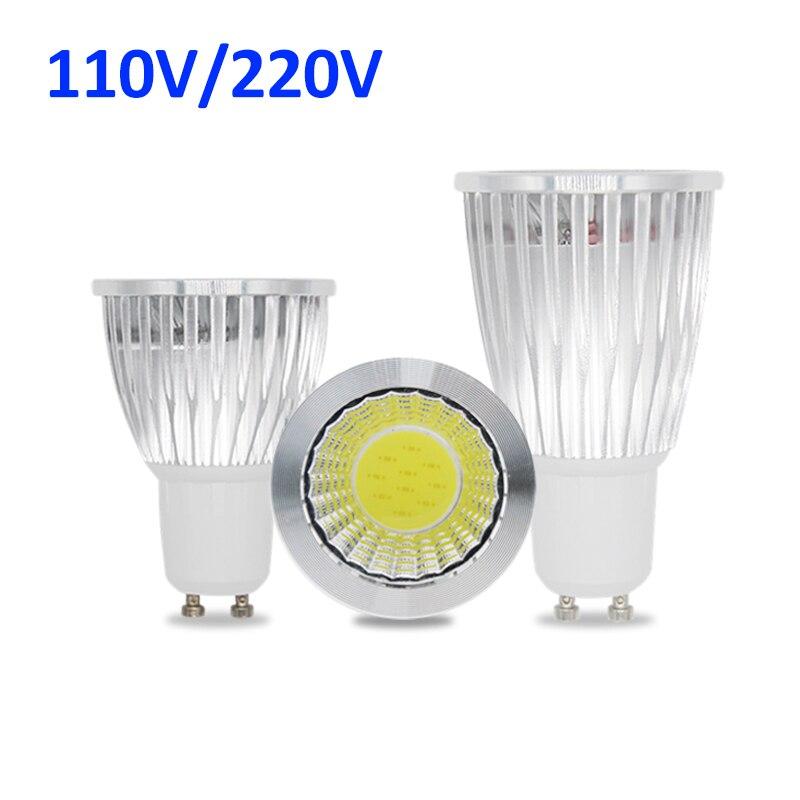 10pcs Lampada LED Lamp 220V 110V 3W 5W 7W COB LED Spotlight GU10 GU5.3 AC 85 - 265V Spot Light Bulbs Ampoule Luz Chandelier