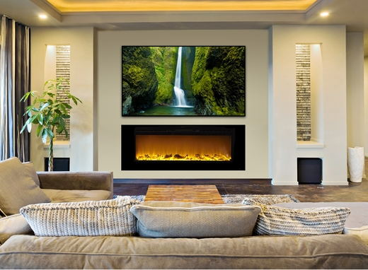 led three types swaps logs pebbles crystal swaps wall mounted - Electric Fireplace Logs