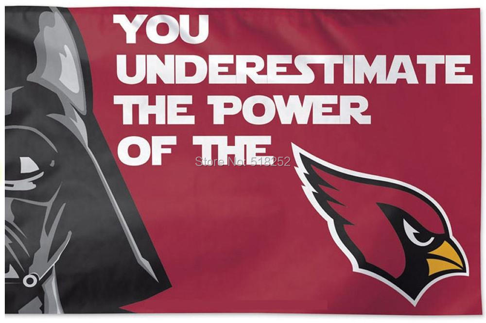 Arizona Cardinals Star Wars Flag 3x5 FT 150X90CM NFL Banner 100D Polyester Custom flag grommets 6038,free shipping ...