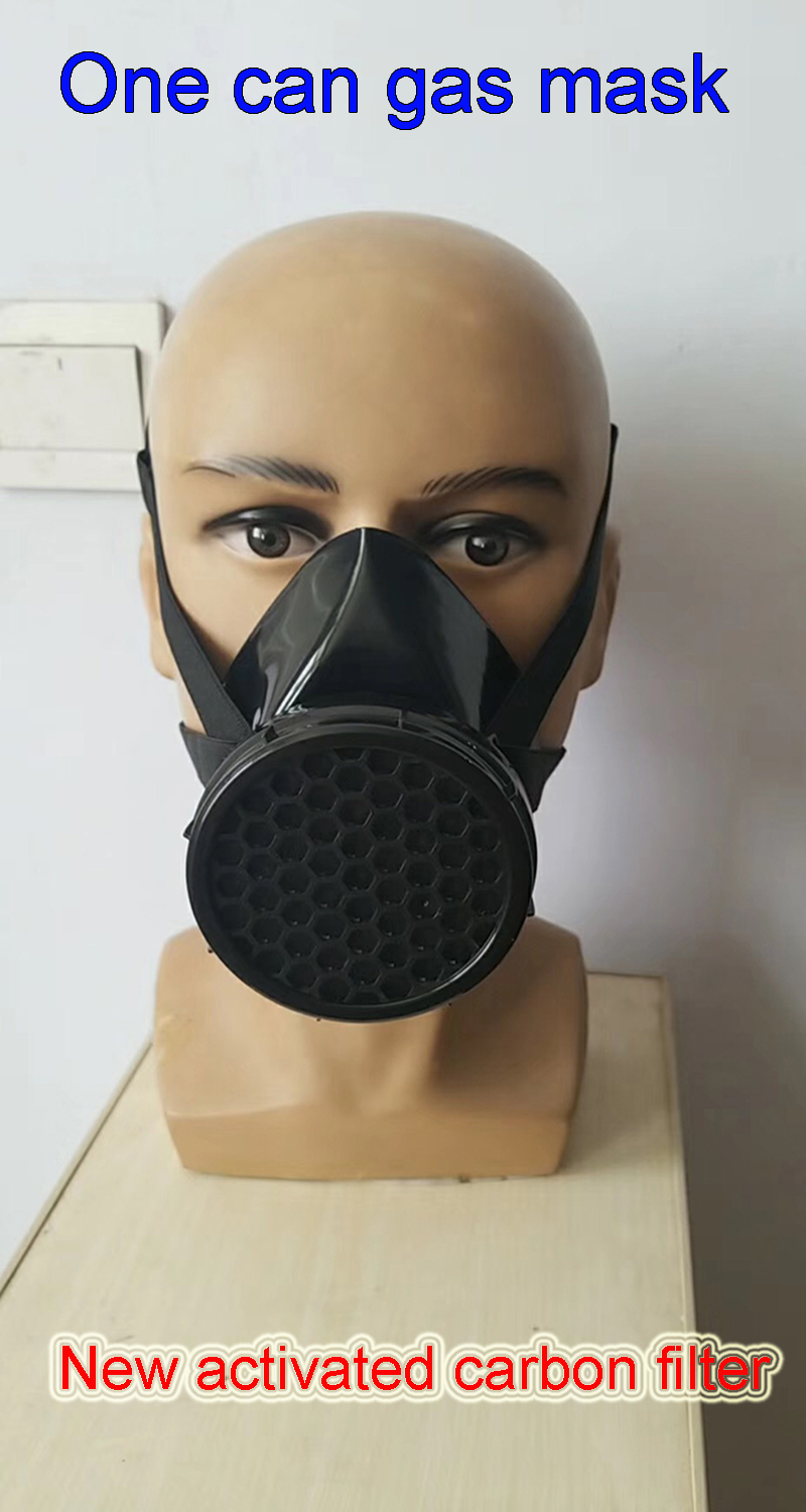 The New Respiratory gas mask new formula Efficient Formulated activated carbon Gas mask Spray paint Graffiti Respirator gas mask yihu gas mask blue two pot efficient respirator gas mask paint spray pesticides industrial safety protective mask