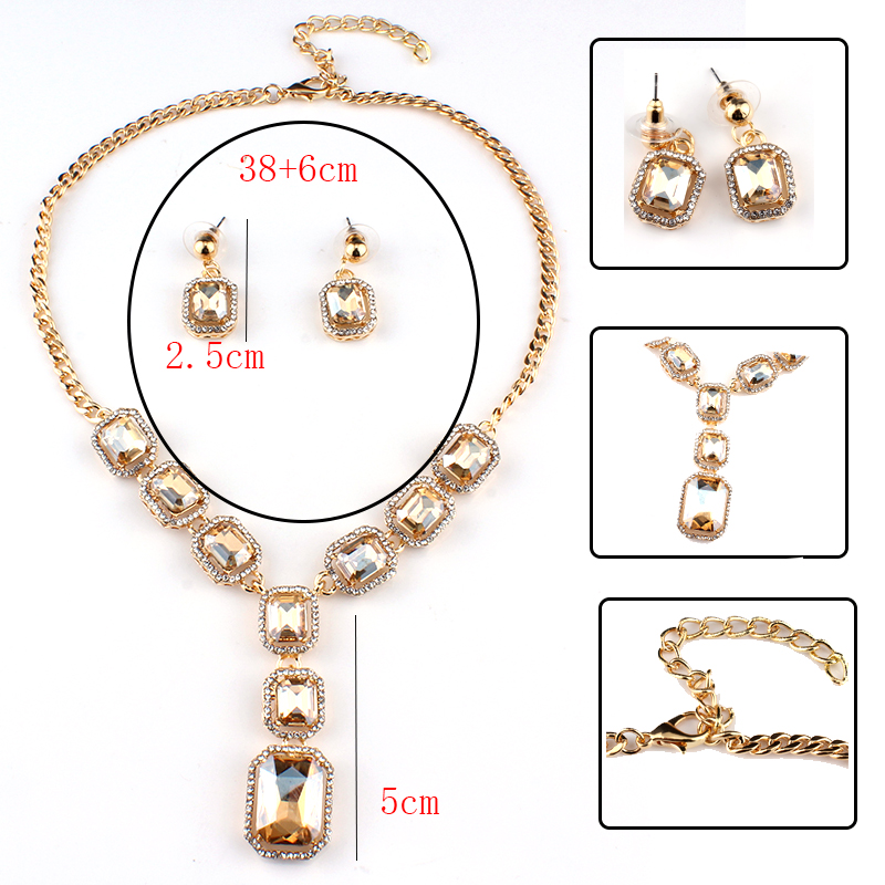 Weibang Hot African Female Costume Jewelry Set For Women Gold Color