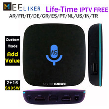 IPTV free Google Voice Control Smart TV BOX Android 7.1 Amlogic S905W 1GB 2GB 16GB Streaming Google Play Netflix PK VONTAR v1(China)