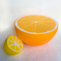 25cm soft super squishy jumbo big fruit orange squishy slow rising kids toy fun collection squeeze toys gift 1 pcs free shipping