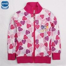 Bébé filles veste pour les filles veste et manteau bébé filles hoodies nova marque coton veste d'hiver enfants survêtement F4286