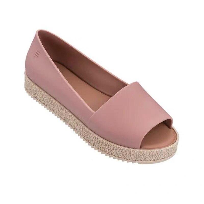 Melissa Puzzle femmes sandales plage gelée chaussures Mulher femme plat sandales doux mélangé bonbons 4 couleurs décontracté sans lacet sandales