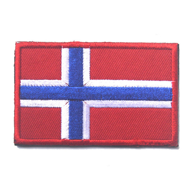 ed0ae458c9d8 Embroidered Iceland Finland Sweden Denmark Norway Flag Patch Army Hook &  Loop 3D Tactical Military Fabric Northern Europe Flag