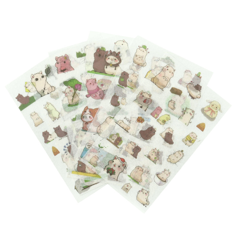 6 Pcs/lot Alpaca Family Paper Sticker Decoration Diary Scrapbooking Label Sticker Kawaii Korean Stationaries Stickers