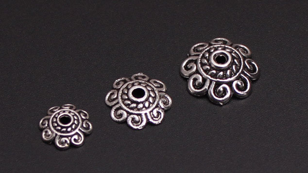 Hot Fashion 500pcs/lot Small Receptacle DIY Antique Silver Beads Caps Accessories Jewelry Findings & Components