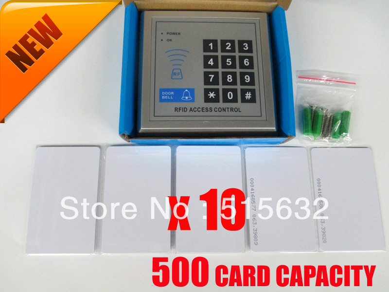 500 Card Capacity RFID Proximity Entry Lock Door Access Control System Digital ACCESS KEYPAD with 10 RFID Card digital electric best rfid hotel electronic door lock for flat apartment
