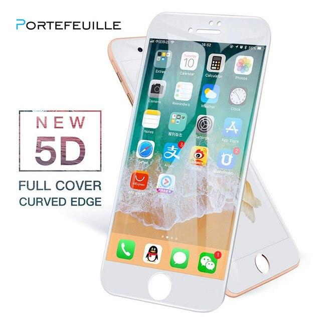 Portefeuille 5D Kính Cường Lực Toàn Màn Hình Bìa Protector Trường Hợp Đối Với iPhone XS Max X 8 Cộng Với 6 6 s 7 XR XSMax Phụ Kiện Điện Thoại