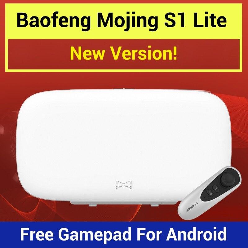Nouveau Baofeng Mojing S1 3D Lunettes Lunettes de Réalité Virtuelle VR Casque 110 Lentille De Fresnel + Bluetooth Télécommandes pour Smartphone