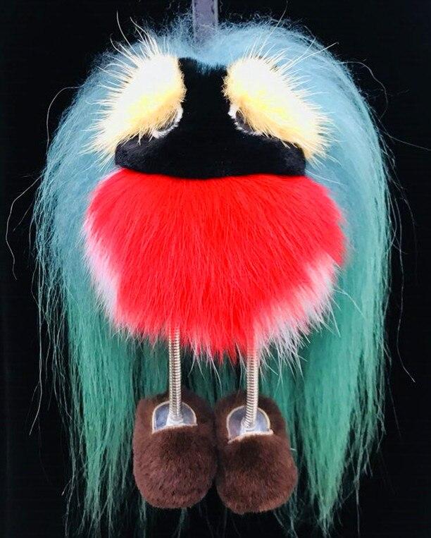 Новая маленькая сумка монстр из меха ведьмы Gege, кулон из меха лисы, Рекс, кролик, шарик для волос, аксессуары для ювелирных изделий