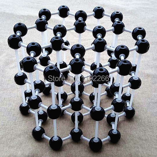Chemistry molecular model LZ-23210 3layers 7 carbon hexagons Graphite crystal structure model Chemical teaching free shipping цена