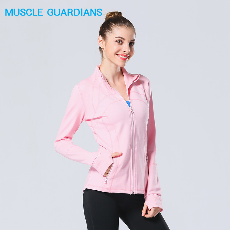 2018 Women Hooded running jacket Long Sleeve Sweatshirt Ladies Yoga Sports Zipper Jacket Fitness Gym Shirts Women's Dropship round neck long sleeve 3d coins print sweatshirt