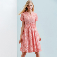 ONLY PLUS S XXL Women Summer Dress Cotton Vintage Party Dress 2018 Button Hollow Out lace Elegant Short Sleeve dress Vestid