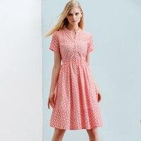ONLY PLUS S XXL Women Summer Dress Cotton Vintage Party Dress 2018 Button Hollow Out lace Elegant Short Sleeve dress Vestid
