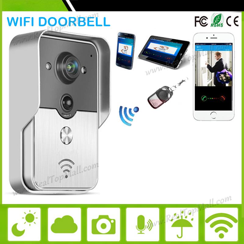 Wifi video door phone doorbell Wireless Intercom Support IOS Android for iPad Smart Phone Tablet hd ip wireless video door phone wifi doorbell real time talking photo video free app support ios and android two way intercom