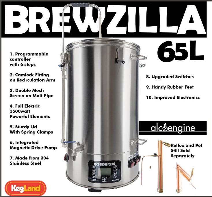 Tout En Un Brasserie ROBOBREW BREWZILLA 65L-GEN.3.0