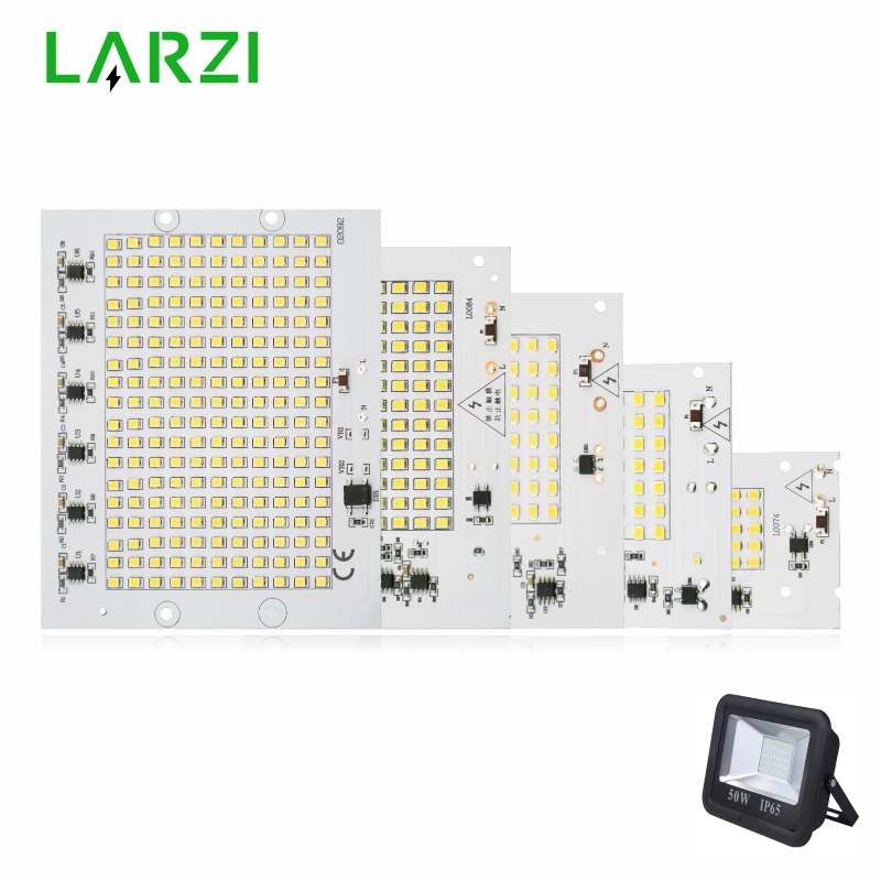 LARZI LED Lamp Chip SMD2835 Light Beads AC 220V-240V 10W 20W 30W 50W <font><b>100W</b></font> <font><b>DIY</b></font> For Outdoor Floodlight Cold White Warm White image