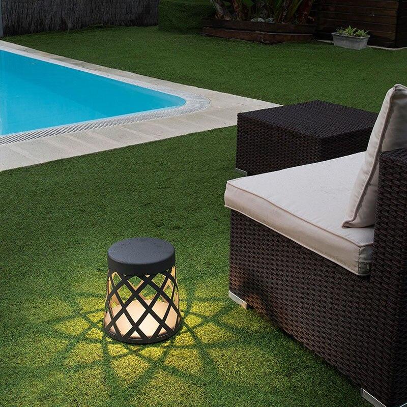 Светодиодный светильник для сада, открытый водонепроницаемый простой современный алюминиевый подсвечник, лампа для газона - 3