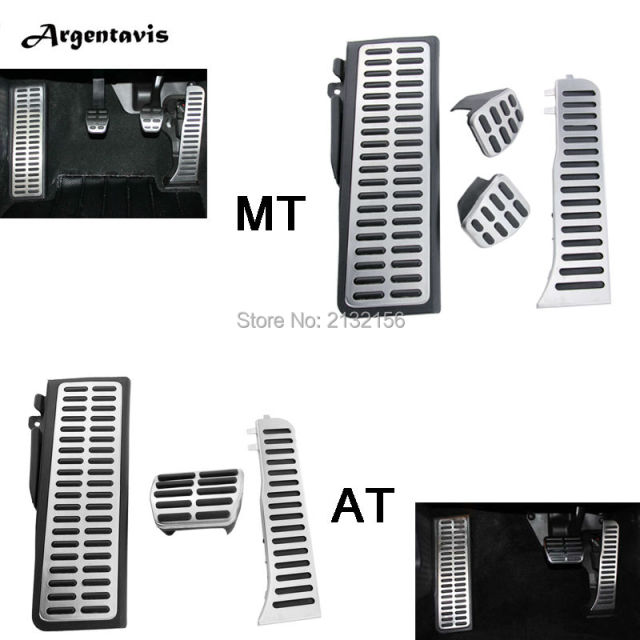 Car pedals for Volkswagen VW Jetta MK6 Accelerator Brake Footrest pedal pad cover MT AT accessories car styling