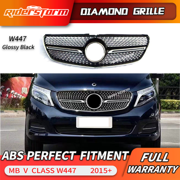 Diamond Grille For V Class  W447 diamond grille  For V260 mesh Racing diamond front bumper car accessory air vent