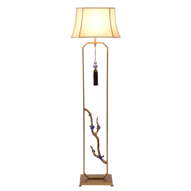 Persevering Chinese Style Zen Branch Floor Lamp Chinese Style Classical Desk Lamp Villa Clubhouse Home Stay Hotel Bedroom Bedside Lamp