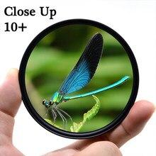 Knight tx – filtre Macro close-up 10 + pour objectif d'appareil photo, pour canon, sony, nikon, photographie d3300, 1300d, 2000d, d5100, d70, dslr, 52mm, 58mm, 67mm